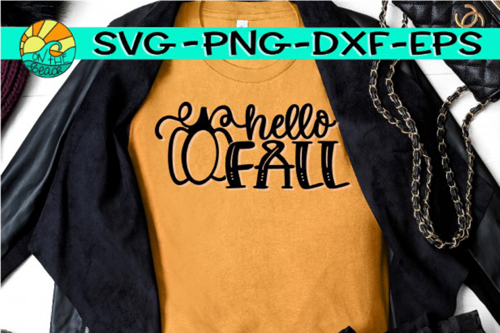 Hello Fall -Pumpkin - SVG PNG EPS DXF