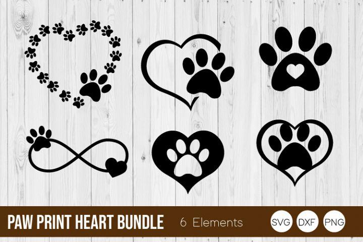 Paw Print Heart SVG