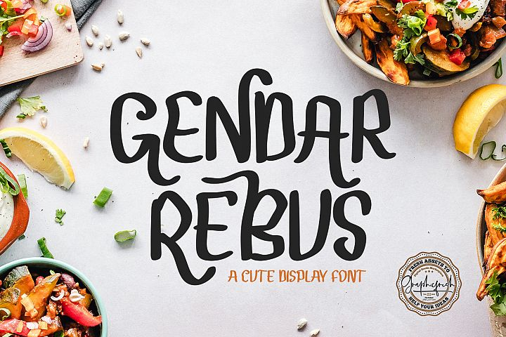 Gendar Rebus - A Cute Display Font