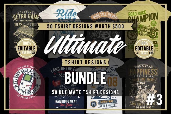 50 Tshirt Designs Bundle #3
