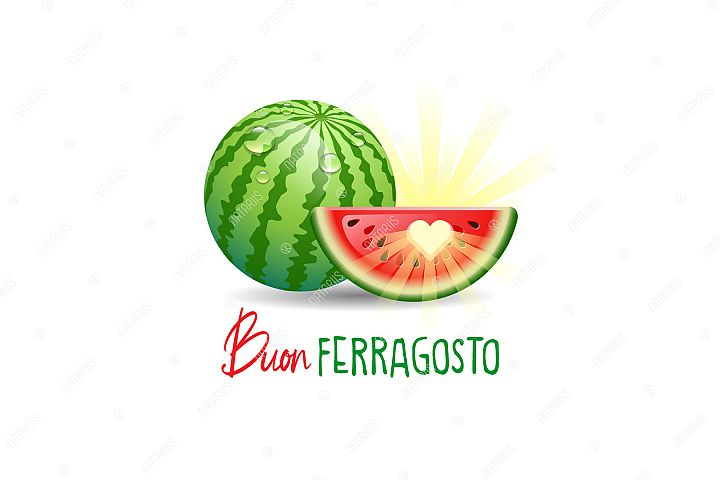 Buon Ferragosto. Happy Summer Holidays in Italian.