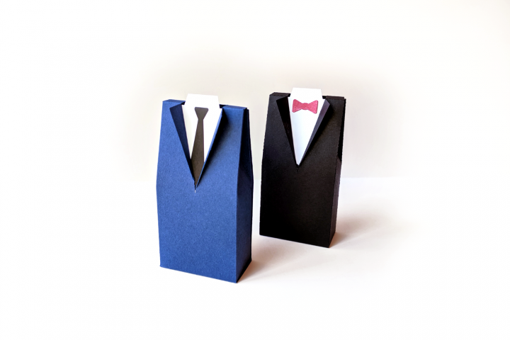Wedding Tuxedo Suit Box SVG PDF Design