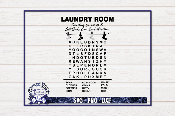 Laundry Room Sign - Laundry SVG - Laundry Wordsearch