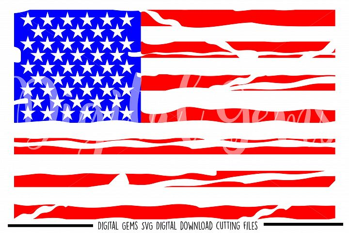 American Flag distressed SVG / PNG / EPS / DXF files