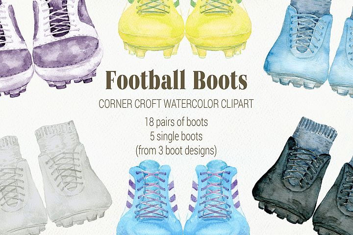 Watercolor Clipart Football Boots soccer boots
