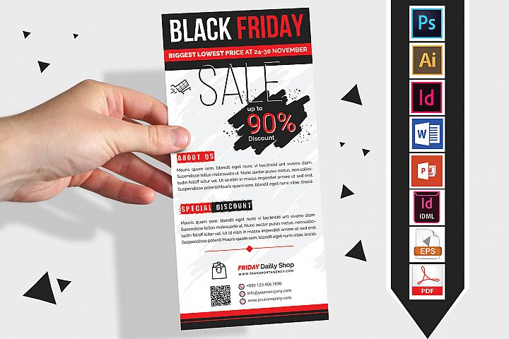 Rack Card | Black Friday DL Flyer Vol-1
