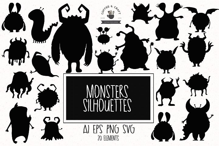 Monsters silhouettes