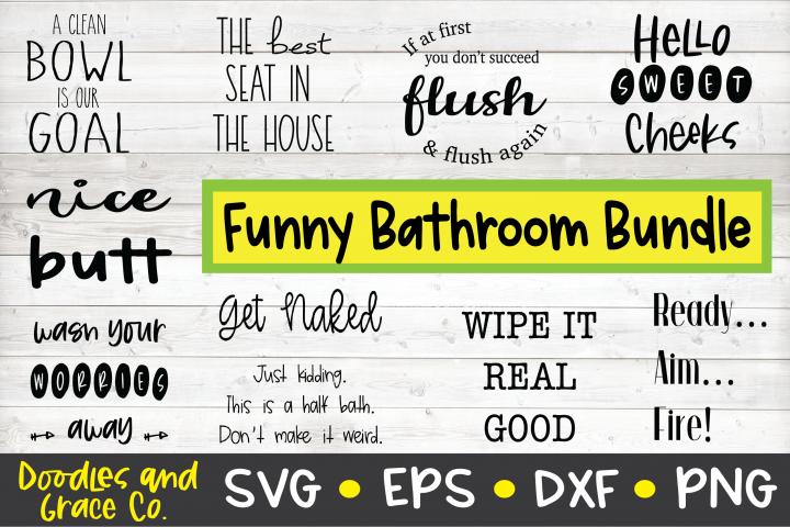 Funny Bathroom Bundle - Bathroom Humor