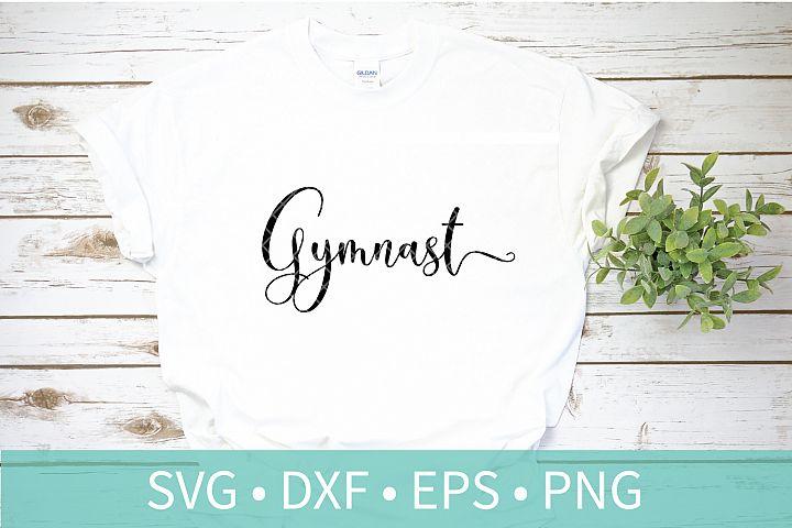 Gymnast Script SVG DXF EPS PNG Clipart Cut File