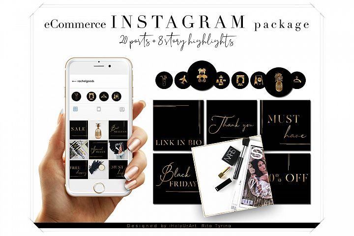 e-Commerce Instagram Posts Pack - Social Media Package