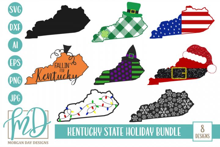 Kentucky Christmas - State - kentucky Holiday Bundle SVG