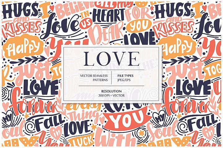 LOVE lettering pattern