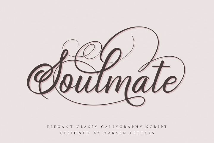 Soulmate//Luxury beauty calligraphy