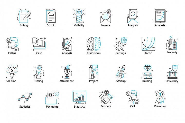 78 PERFECT LINE ICONS example 4