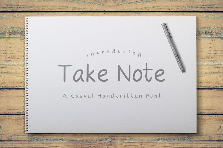 Take Note - A Casual Handwritten Font