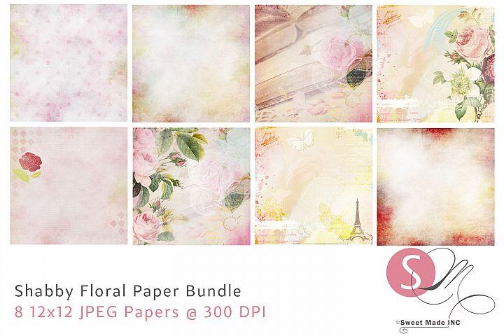 Shabby Floral Paper Bundle