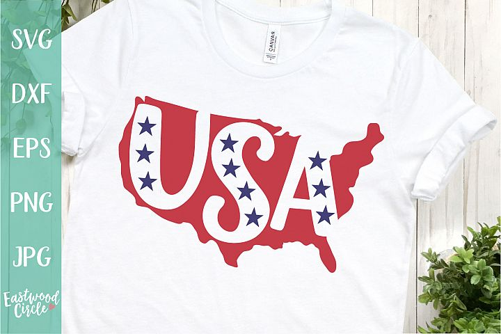 USA Silhouette - A 4th of July SVG Cut File