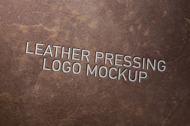 Leather Pressing Logo Mockup