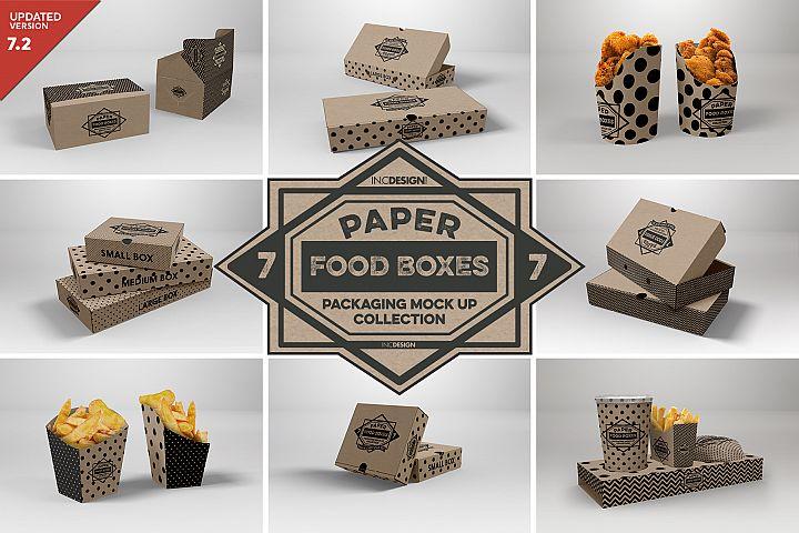 VOL.7 Food Box Packaging MockUps