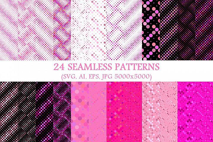 24 Seamless Pink Dot Patterns