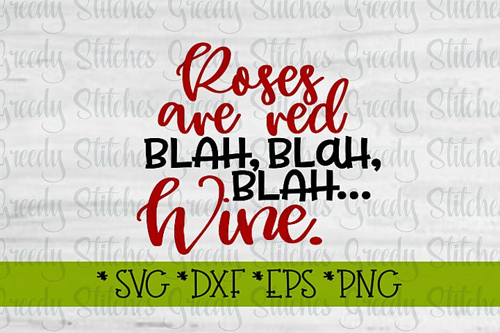 Valentines Day | Roses Are Red Blah Blah Blah SVG DXF EPS