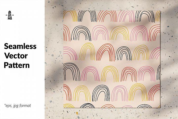 Bohemian rainbows seamless pattern