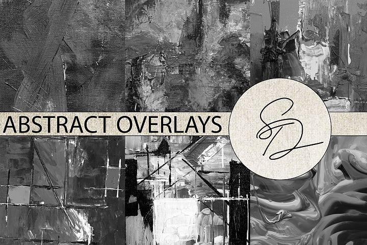 Painted Abstract Paper Overlays
