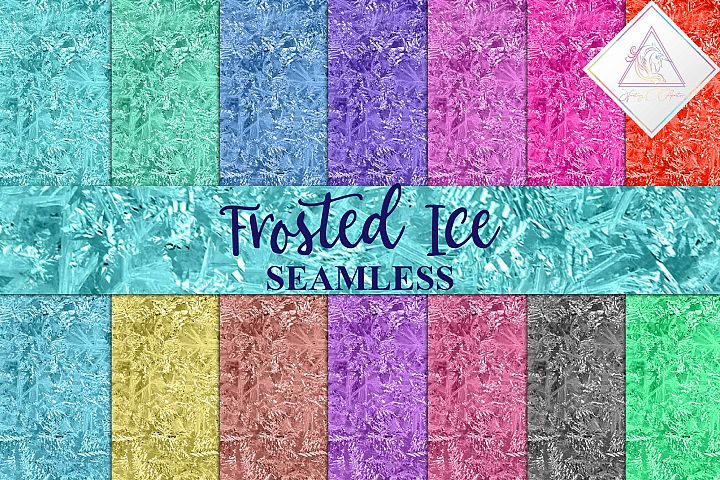 Seamless Frosted Ice Textures