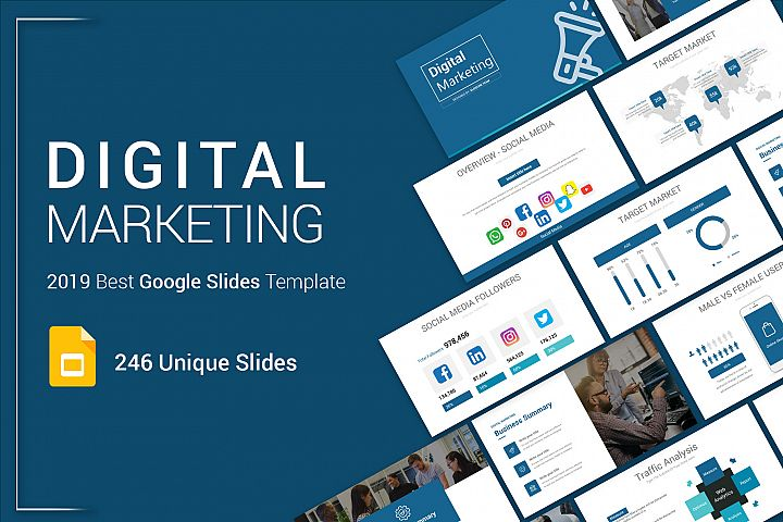 Best Digital Marketing Google Slides Template