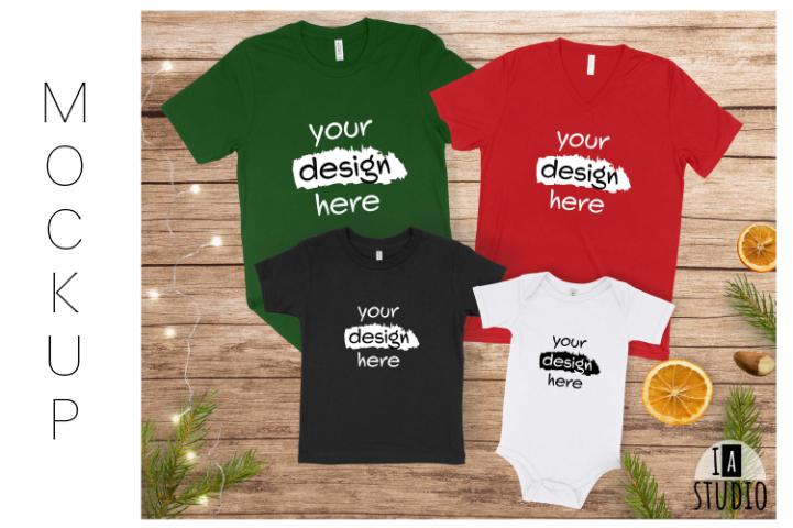 Family Christmas Mockup / Matching Family Tshirt Mockup