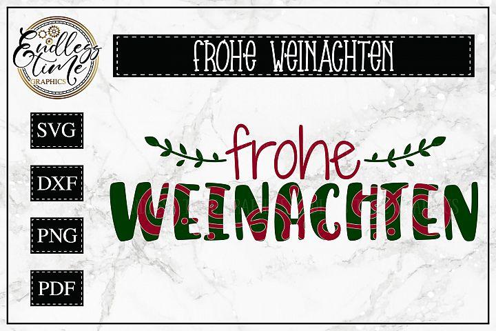 Frohe Weinachten SVG- Merry Christmas in German