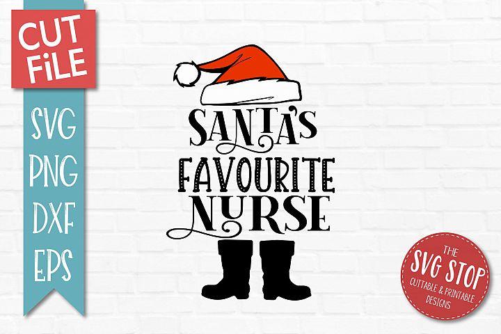Santas Favourite Nurse SVG, PNG, DXF, EPS