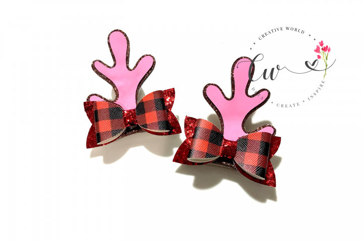 Reindeer Antler Hair Clip Digital Template