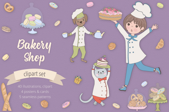 Bakery Shop Illustration Set