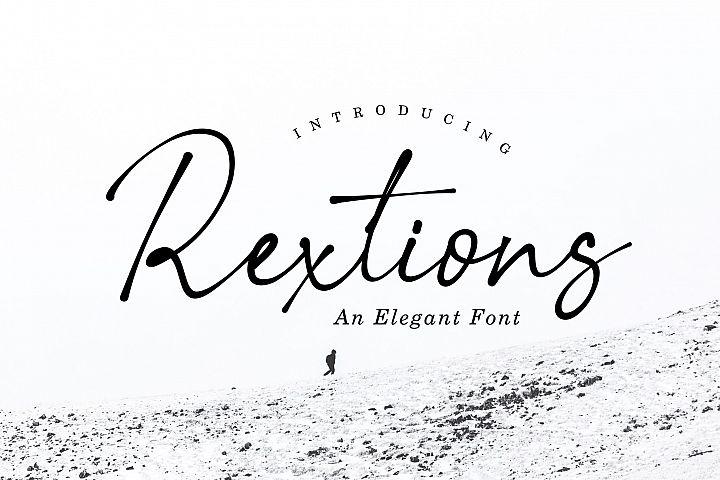 Rextions an elegan font
