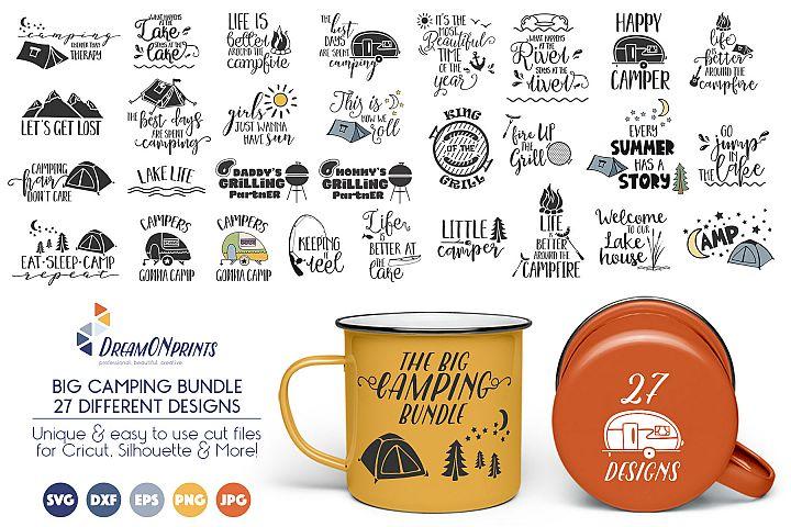 The BIG CAMPING Bundle - 27 SVG Designs