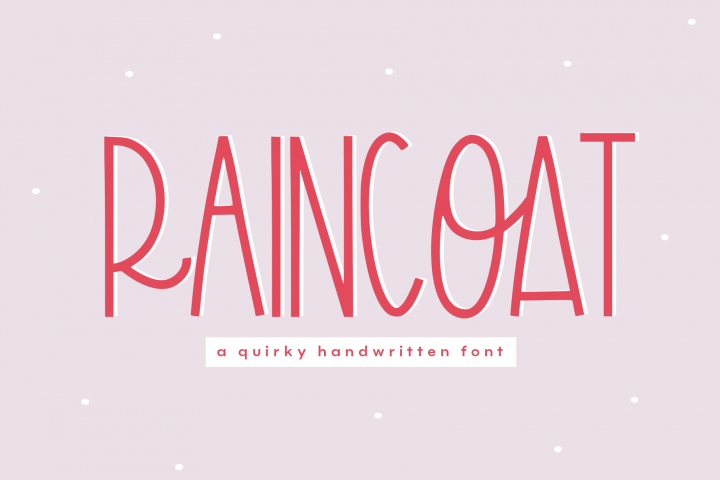 Raincoat - A Fun Handwritten Font