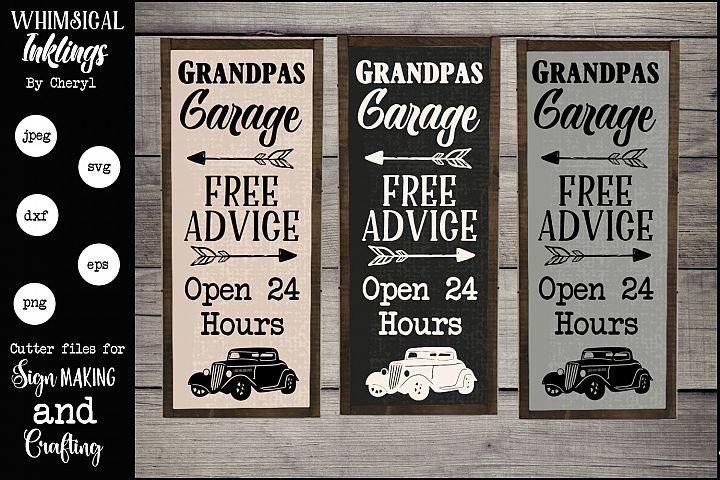 Grandpas Garage SVG