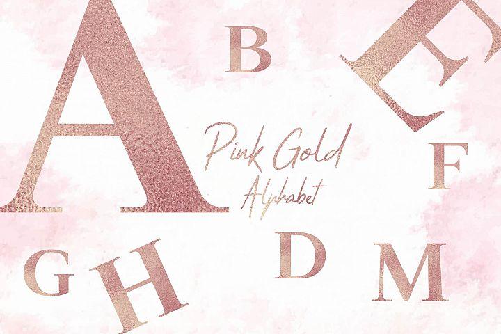 Rose Gold Foil Alphabet