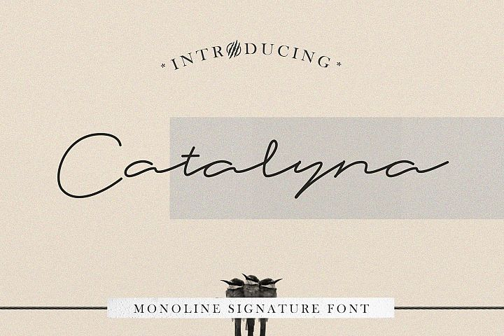 Catalyna Monoline Signature
