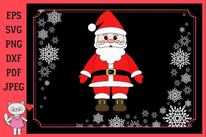 Santa Claus SVG, Father Christmas svg