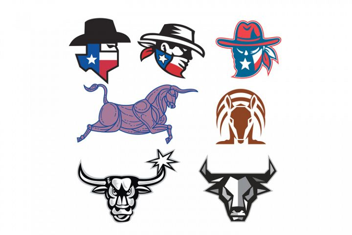 Texas Icons and Texan Mascots Collection