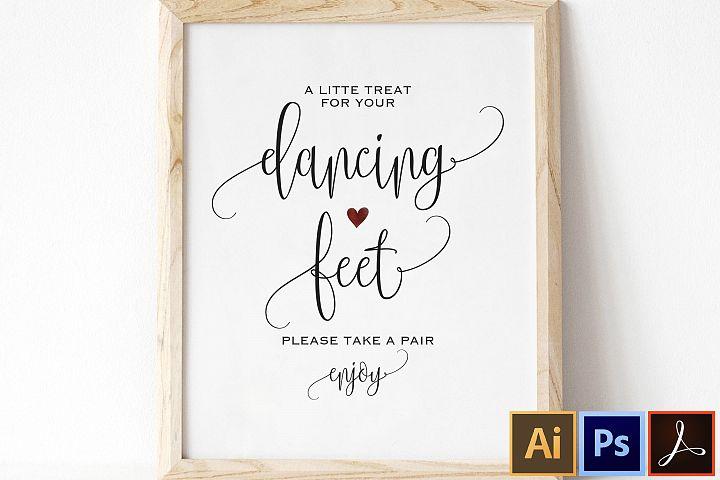 Dancing Shoes Sign, Dancing Feet Sign, Wedding Dancing Shoes