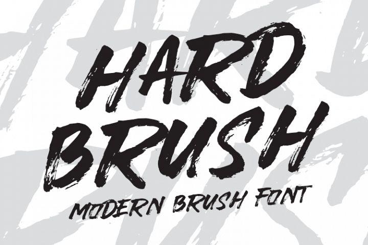 HARDBRUSH Modern Brush Font