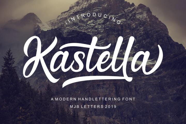 Kastella - Bold Script Font