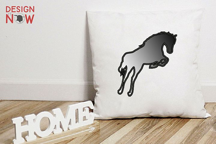 Horse Applique Design, Horse Embroidery Pattern, Stallion