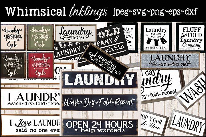 Super Laundry SVG Bundle MONTHLY SPECIAL- OVER 50 IMAGES