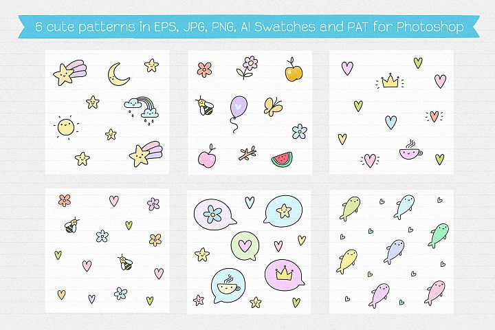 Cute Creatures Vector Set example 6