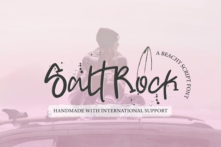 SaltRock - Beachy Script Font