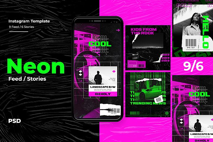 Neon Instagram Templates